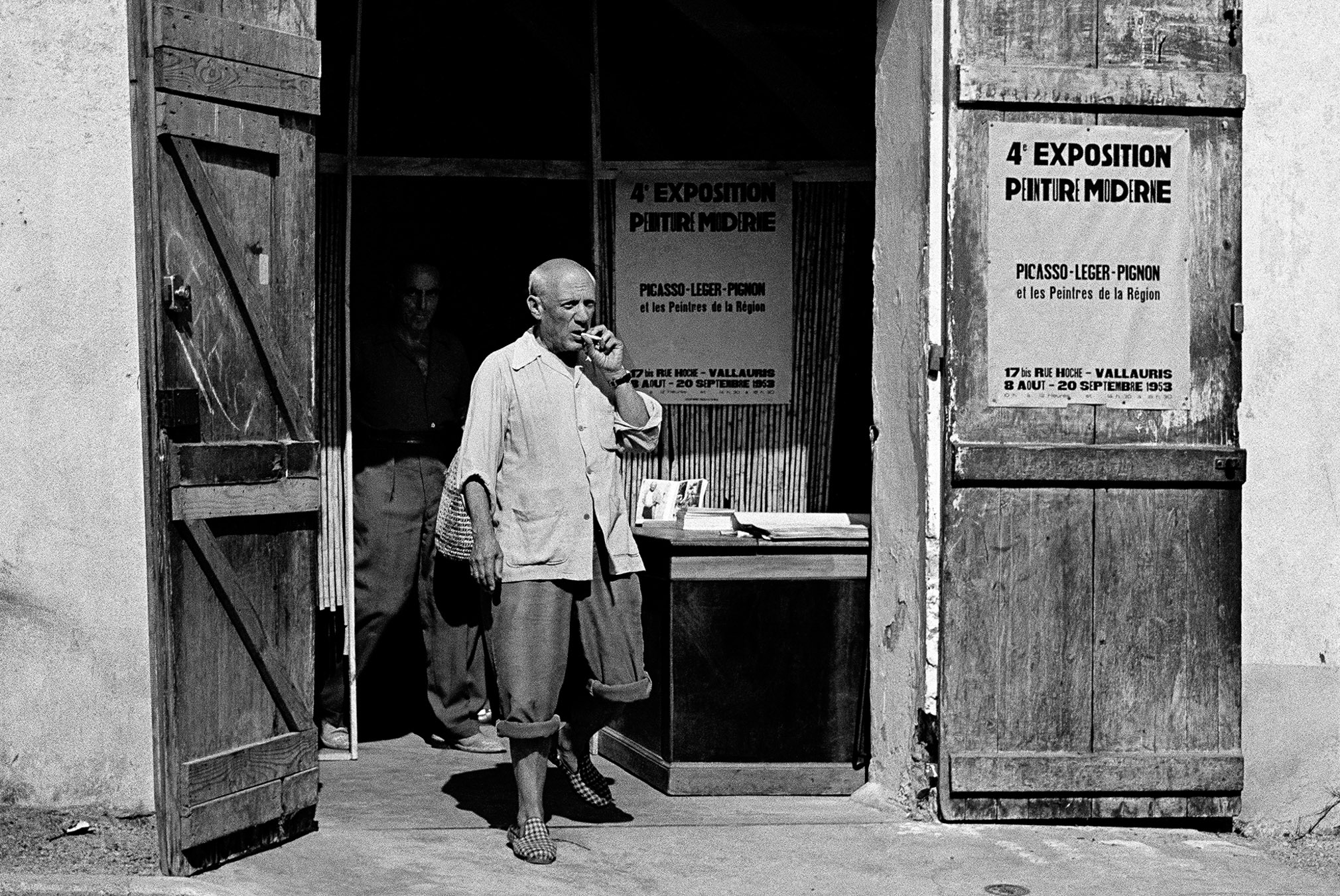 Picasso leaving exhibition in Vallauris 1953, Canson fine art print, mounted, printed 2013 132x110cm, Edition of 7, Also available: 78x66cm, Edition of 10
