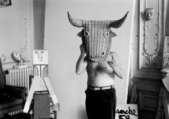 Picasso with Bullfight Mask, Villa La Californie, Cannes 1959, Silver gelatin print 127x96cm