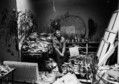 Francis Bacon in his studio, London 1979 (II), Silver gelatin print 98x64cm