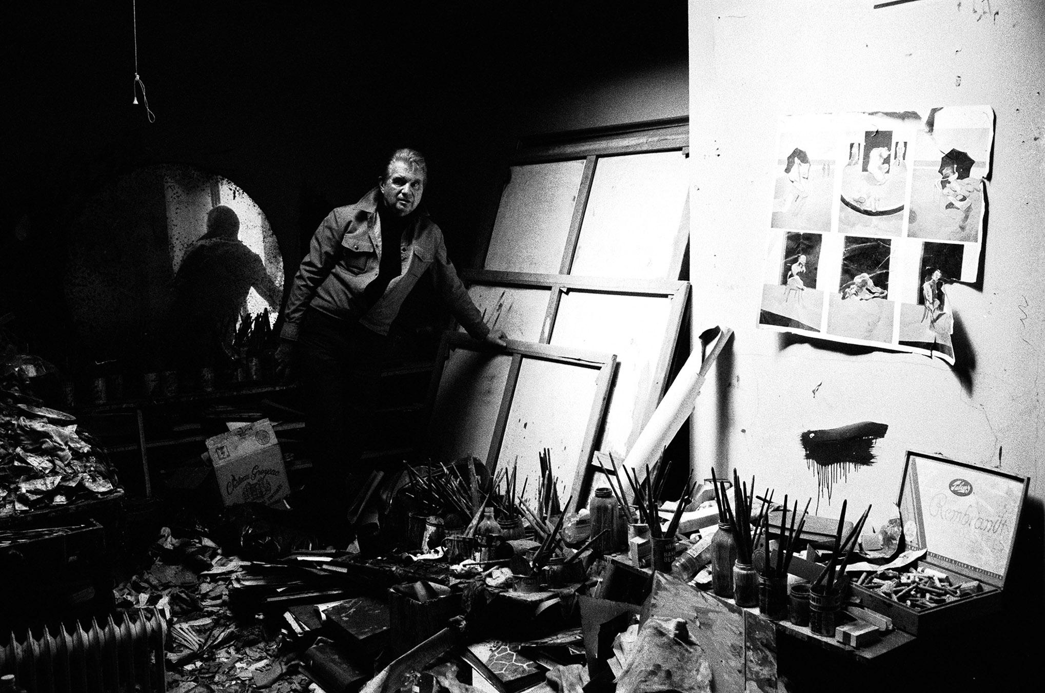 Francis Bacon in his studio, London 1979 (II) Silver gelatin print 98x64cm