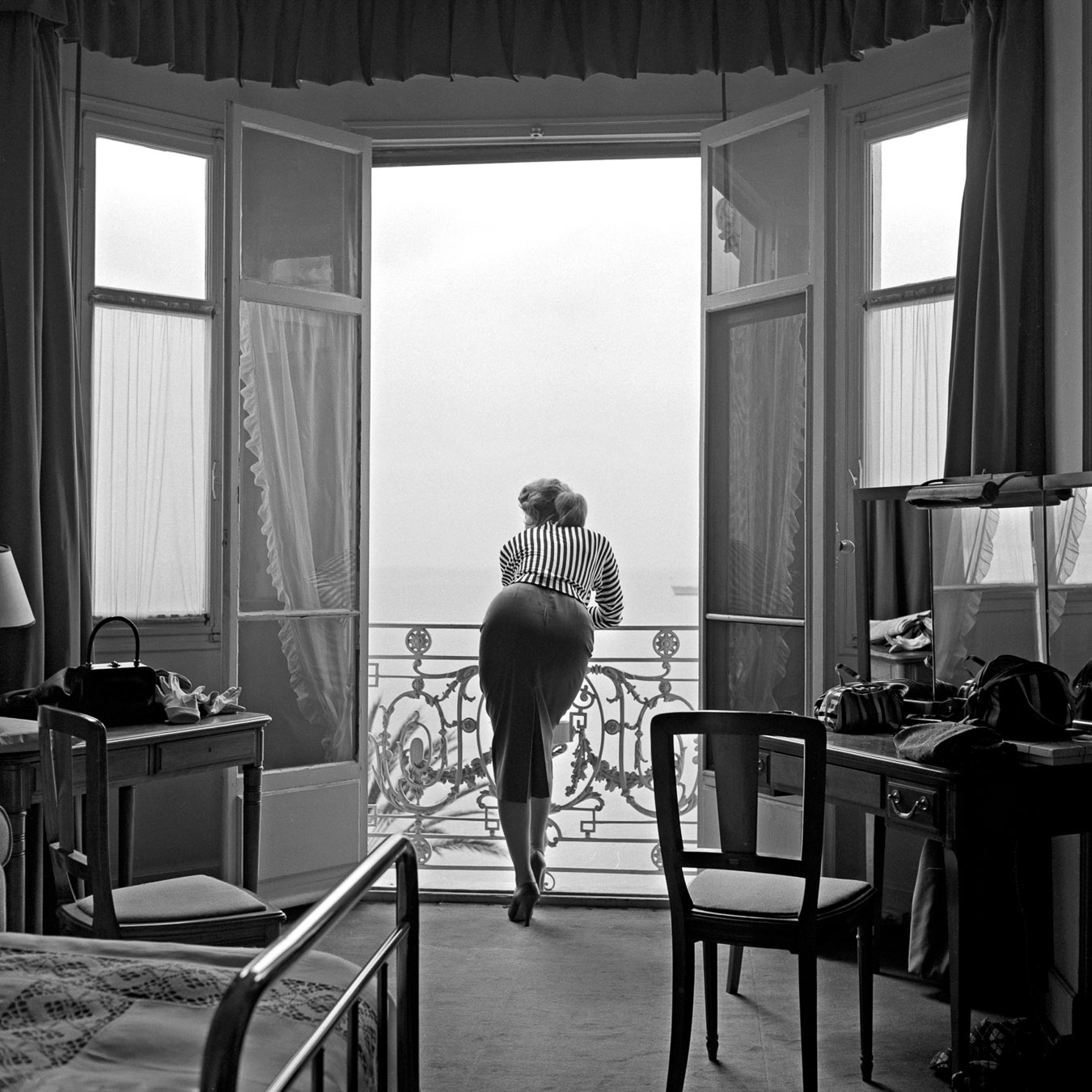 Sophia Loren, Carlton Hotel, Cannes 1955, Silver gelatin print 94x94cm, Also available: 40x50cm