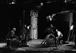 "Picasso during the filming of ""Le Mystère Picasso"", by Henri-Georges Clouzot, Studios de La Victorine, Nice 1955, Silver gelatin print 40x50cm"