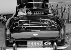 "Alain Delon and Jane Fonda during the filming of ""Les Félins"" (""Love Cage""), Antibes 1964, Silver gelatin print 86x86cm, Also available: 40x50cm"
