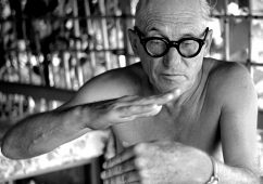 Le Corbusier at his holiday hut, Roquebrune Cap Martin 1953, Hahnemuhle Baryta FineArt Print 118x114cm,  Edition  of 3