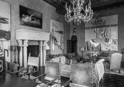 Julian Schnabel's living room, Palazzo Chupi, New York 2014